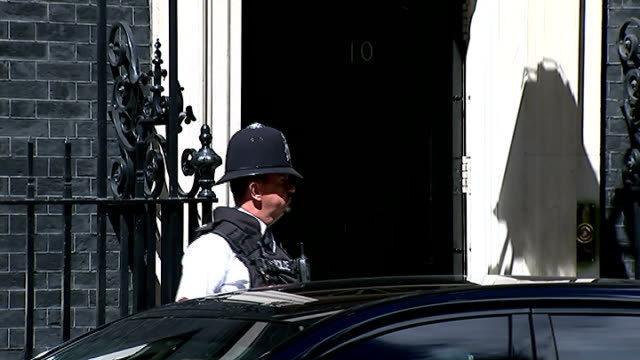 cabinet arrivals at downing street england london downing street ext patrick mcloughlin mp along / david willetts mp along / car pulls up / william... - sir george young politician stock videos and b-roll footage