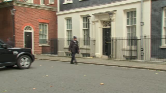 Cabinet arrivals at Downing Street ENGLAND London Downing Street EXT Gavin Williamson MP along / Justine Greening MP / Greg Clark MP / Karen Bradley...