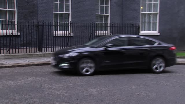 cabinet arrivals at downing street england london downing street ext greg clark mp / claire perry mp / brandon lewis mp / michael gove mp / chris... - damian hinds stock videos and b-roll footage