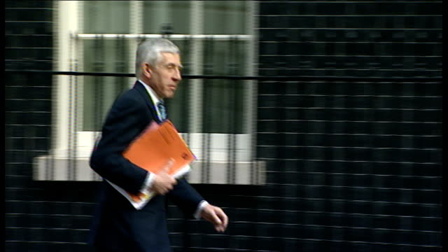 cabinet arrivals at downing street sadiq khan mp [transport minister] arriving andy burnham mp [health secretary] arriving carrying red folder jack... - sadiq khan stock videos & royalty-free footage