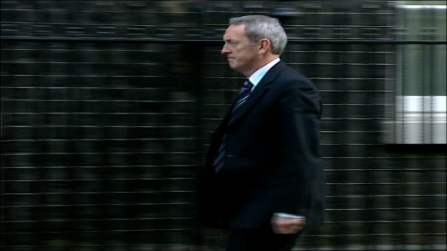 cabinet arrivals at number ten downing street; john hutton mp along into no 10 - john hutton stock videos & royalty-free footage