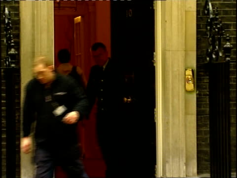 cabinet arrivals at number ten downing street unidentified arrival out of car and in to number ten / hilary benn mp out of car as along in to number... - hilary benn stock-videos und b-roll-filmmaterial
