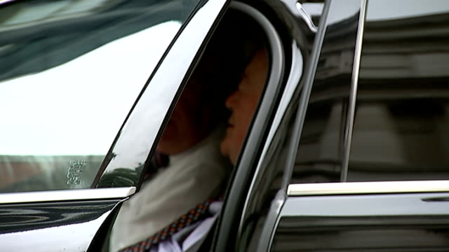 london downing street ext david cameron mp exits no10 witrh daughter / sajiv javid mp culture secretary arrival / theresa may mp / andrew lansley mp... - dominic grieve stock videos and b-roll footage