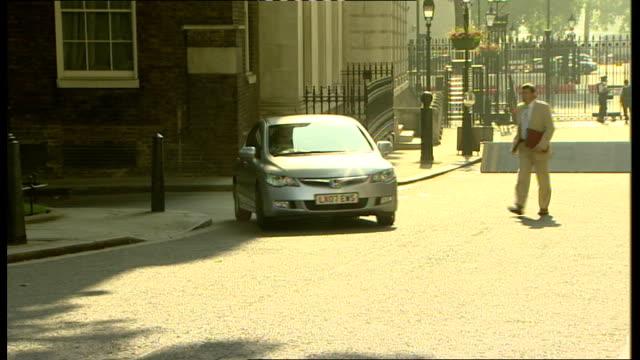 cabinet arrivals; england: london: downing street: ext douglas alexander mp arriving / tessa jowell mp arriving in car / john denham mp arriving /... - douglas alexander stock videos & royalty-free footage