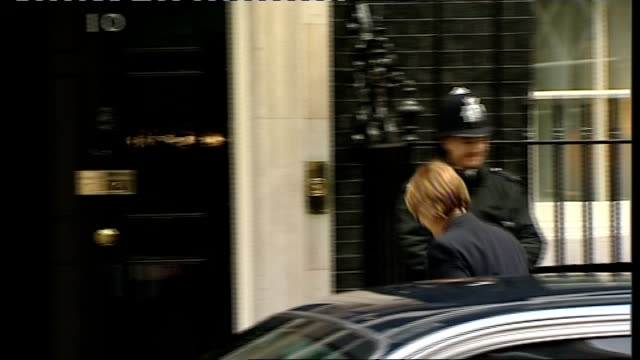 London Downing Street EXT Harriet Harman MP arriving / Ed Miliband MP arriving / Jacqui Smith MP getting out of car then along into Number 10 / Hazel...