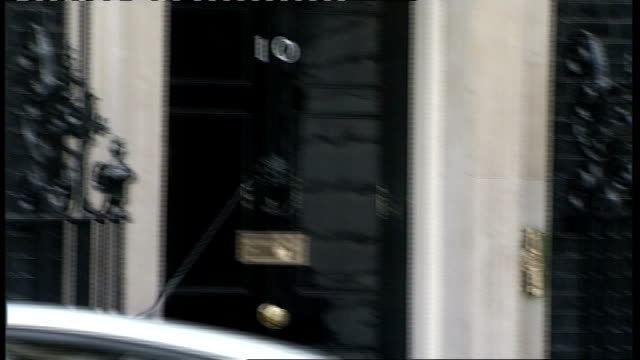cabinet arrivals; england: london: downing street: ext harriet harman mp and hilary benn mp arriving together / bob ainsworth mp arriving / tessa... - cabinet member stock videos & royalty-free footage