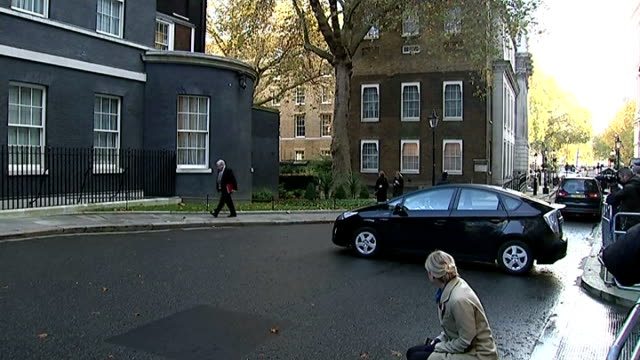 london downing street ext justine greening mp along / greening into number ten / iain duncansmith mp along / philip hammond mp along with... - patrick mcloughlin stock videos and b-roll footage