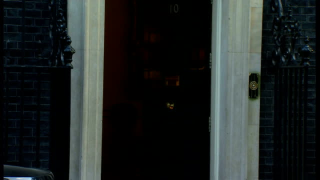 stockvideo's en b-roll-footage met london downing street ext larry the cat on step of number 10 / eric pickles mp arriving / chris grayling mp arriving / theresa may mp / lord hill... - william hague