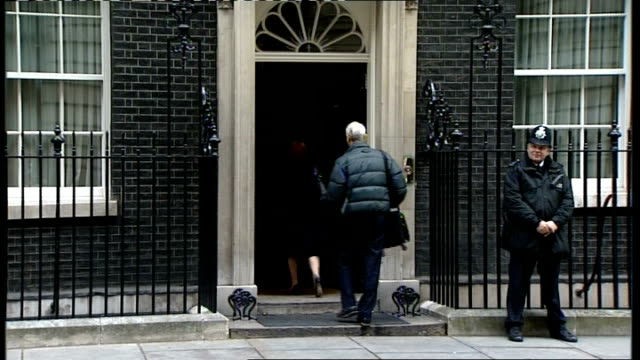 cabinet arrivals; hazel blears mp out of car and into no10/ douglas alexander mp along and into no10/ andy burnham mp along and into no10/ harriet... - douglas alexander stock videos & royalty-free footage