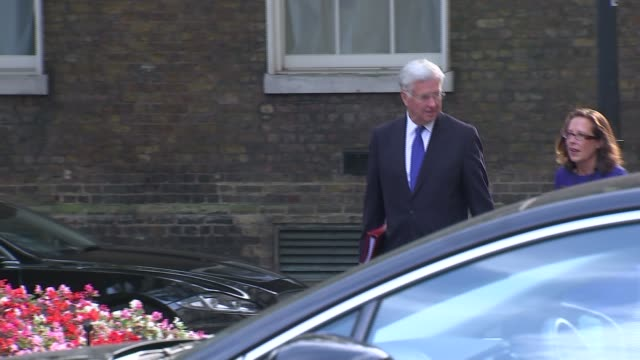 cabinet arrivals more arrivals including michael fallon mp and baroness evans / jeremy hunt mp / boris johnson mp / jeremy wright mp / damian green... - baroness stock videos & royalty-free footage