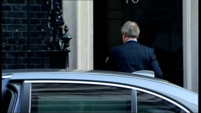 cabinet arrivals more cabinet arrivals including owen paterson mp and jeremy hunt mp - owen paterson stock videos and b-roll footage