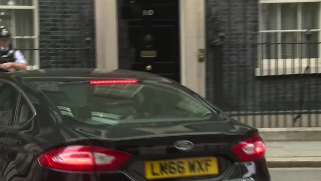cabinet arrivals; uk, london, downing street: liz truss, caroline nokes, brandon lewis, esther mcvey, karen bradley and david davis. england: london:... - david m. davis politician stock videos & royalty-free footage