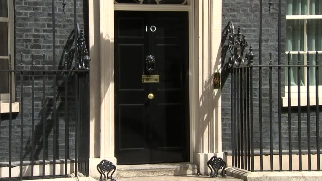 london downing street ext priti patel mp departing number 10 / jeremy wright departing / david gauke mp / jeremy hunt mp and alun cairns mp departing... - number 10 stock videos & royalty-free footage