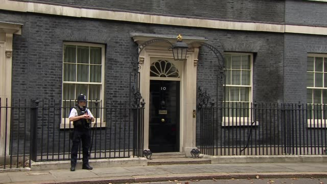 london westminster downing street ext esther mcvey mp departing / gavin williamson mp and alun cairns mp departing / karen bradley mp departing /... - damian hinds stock videos and b-roll footage