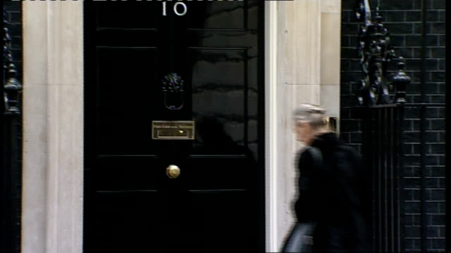 Cabinet meeting arrivals and departures Unidentified man along and into number 10 PAN to Hazel Blears MP along and into number 10 as waits for Yvette...