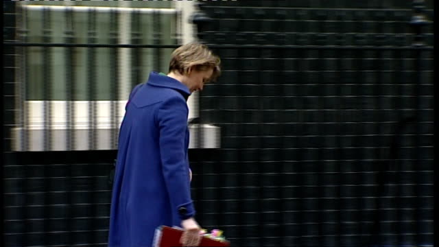 Cabinet meeting arrivals and departures Yvette Cooper MP out from number 10 and away as picked up by car