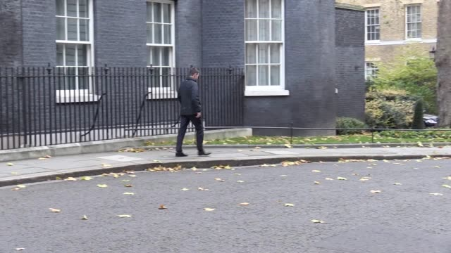 cabinet ministers leave downing street ahead of philip hammond announcing the 2017 budget includes boris johnson jeremy hunt amber rudd liz truss... - liam fox politician stock videos and b-roll footage