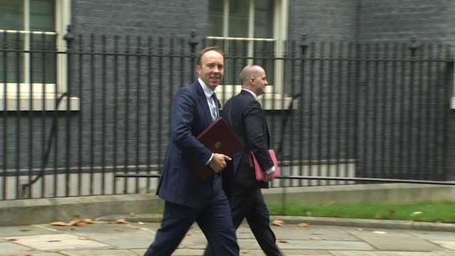 cabinet ministers leaving 10 downing street after the last cabinet meeting before the dissolution of parliament for the election, includes nicky... - dissolving stock videos & royalty-free footage