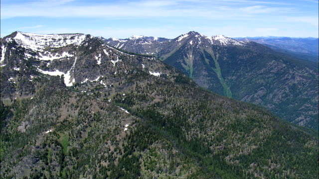 cabinet mountain wilderness  - aerial view - montana, lincoln county, united states - cabinet stock videos and b-roll footage