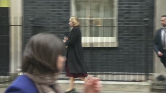 Downing Street arrivals and departures Boris Johnson and Jeremy Hunt depart 10 Downing Street / David Davis MP and Jeremy Wright depart / Caroline...