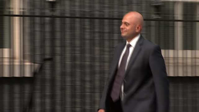 downing street arrivals and departures; england: london: westminster: downing street: ext nadhim zahawi mp departing number 10 and crossing downing... - politics stock videos & royalty-free footage