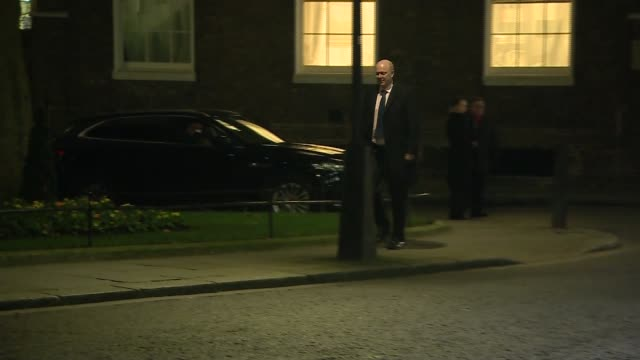 downing street arrivals and departures liam fox mp arriving / karen bradley leaving / chris grayling mp arriving / penny mordaunt mp arriving in car... - liam fox politician stock videos and b-roll footage