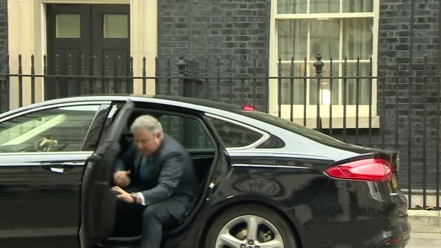 Brandon Lewis out of car and arriving at Number 10 James Cleverly and others outside Number 10 Lewis and Cleverly along with others Lewis and others...