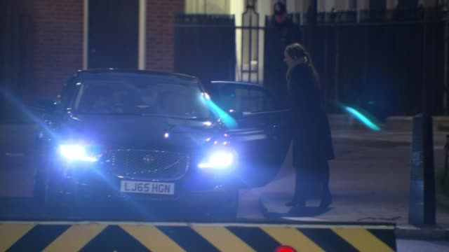 PHOTOGRAPHY ** Jeremy Hunt MP into car/ **FLASHLIGHT David Gauke MP from Number 10 and along/ Long shot of police officer on duty outside Number 10...