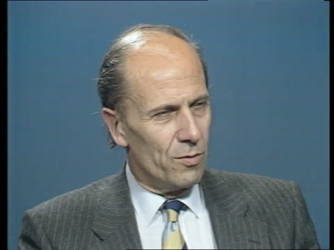 john major profile; england: london cms norman tebbit intvw sof sheer intellectual ability & great worker - 内閣改造点の映像素材/bロール
