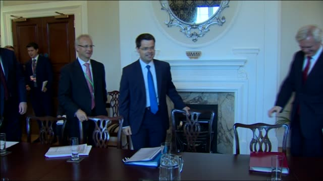 Cabinet reshuffle LIB / 192016 Belfast Stormont House INT James Brokenshire MP taking seat for the inaugural Northern Ireland Business Advisory Group...
