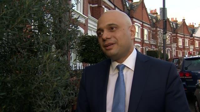 sajid javid resigns as chancellor england london ext sajid javid mp from car sajid javid mp interview sot - sajid javid stock videos & royalty-free footage