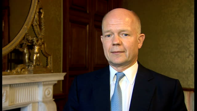 William Hague interview ENGLAND London INT William Hague MP interview SOR On standing down as Foreign Secretary / nearly 20 years since I first...