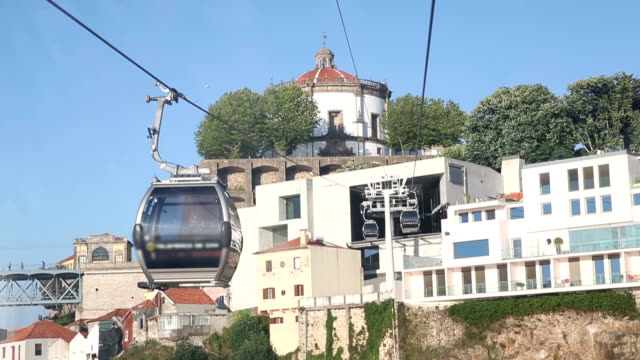vdo :cable car cabins in porto, portugal - porto district portugal stock videos & royalty-free footage