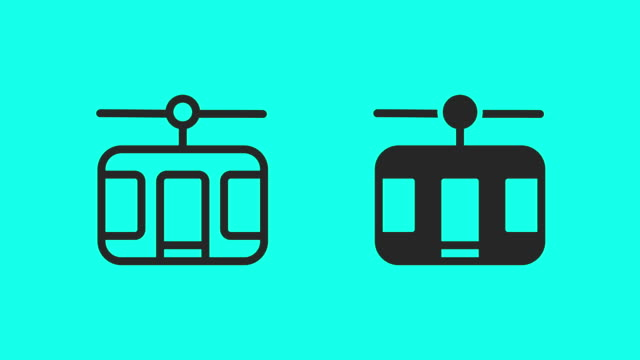 Cable Car Icons - Vector Animate