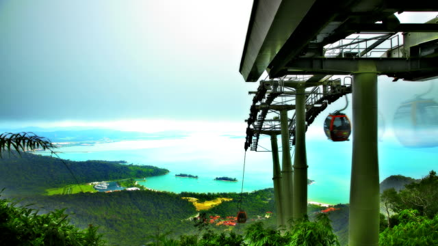 cable car in mountains - langkawi stock videos and b-roll footage