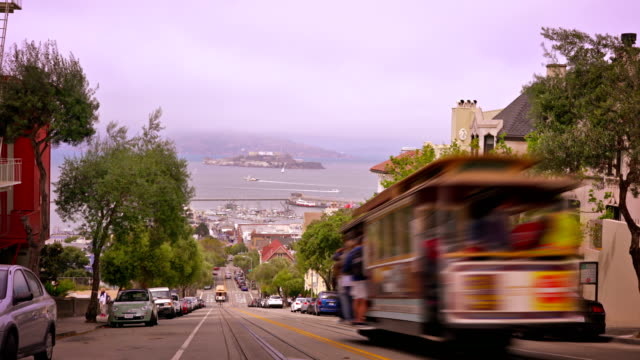 cable car in san francisco - san francisco california stock videos and b-roll footage
