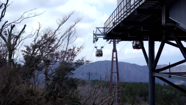 cable car moving to station - scilia stock videos & royalty-free footage