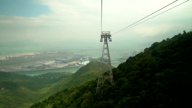 cable car on the island - overhead cable car stock videos & royalty-free footage