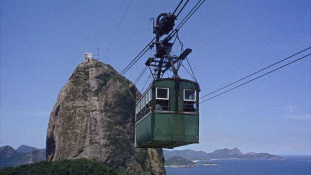 MS ZO Cable car traveling toward sugar loaf mountain / Rio De Janero, Brazil