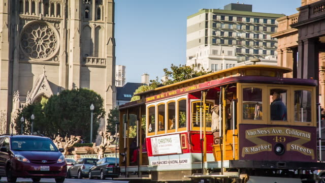 cable car - san francisco california stock videos and b-roll footage