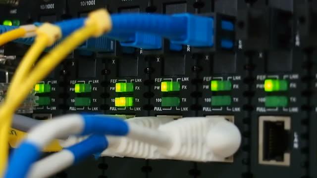 HUB Kabel Netzwerk-Nahaufnahme