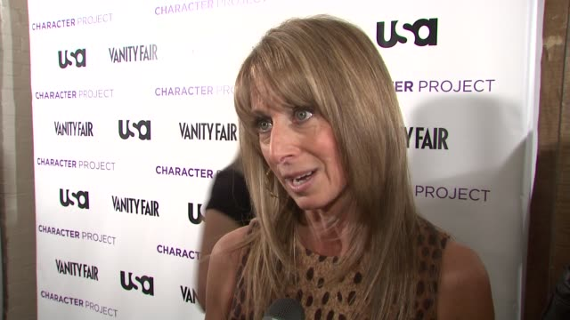 Cable President Bonnie Hammer talking about creating Character Project the exhibit and Tom Brokaw joining USA Network for his own project at the USA...