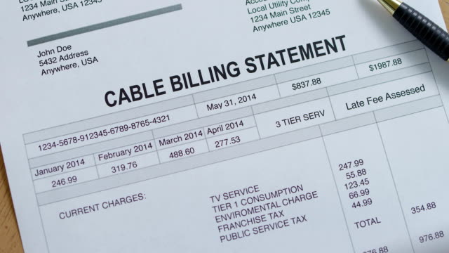 Cable Service Past Due Bill