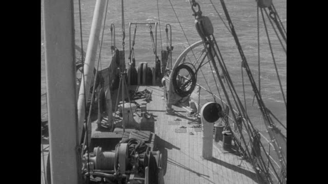 1933 Cable ship off the coast of England
