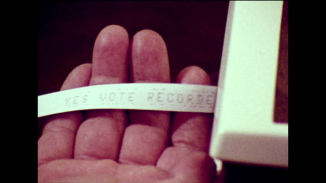 cable television voting system in 1973 - cable tv stock videos & royalty-free footage