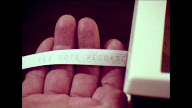 vídeos de stock, filmes e b-roll de cable television voting system in 1973 - cable tv