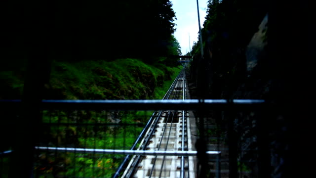cablecar climbing mountain - lake thun stock videos and b-roll footage