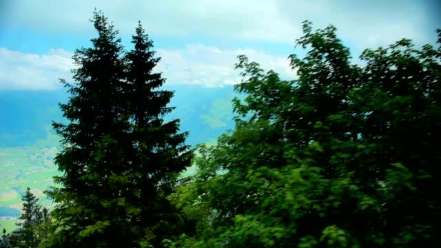 cablecar climbing niesen mountain - lake thun stock videos and b-roll footage