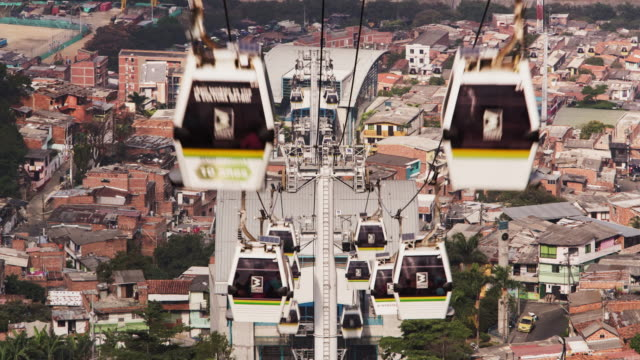 tl, ls cablecar mass transportation system in medellin / medellin, colombia - medellin colombia stock videos & royalty-free footage