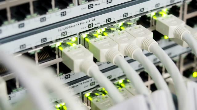 vídeos y material grabado en eventos de stock de cables y conexiones en servidor de red - presentador de programa de concursos